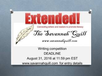 Writing competition extended
